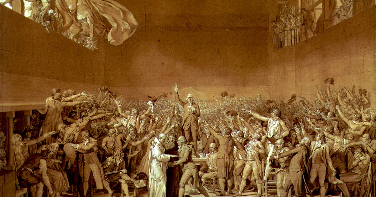 The Clever Pup Jacques Louis David The Tennis Court Oath