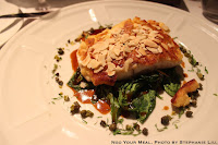 Crusty Sea Bass with almonds, lemon, and caper vinaigrette at Le Violon d'Ingres