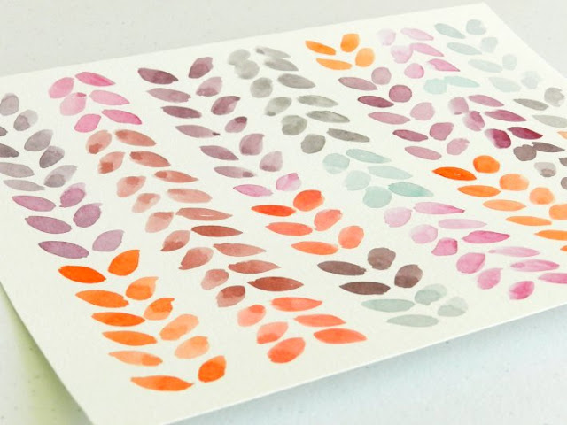 Leaf Design in Purple and Orange Hues: Grow Creative Blog