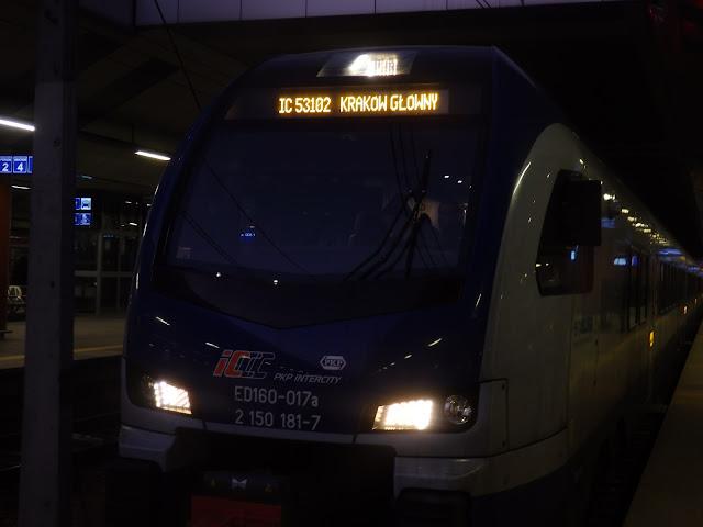 """""""Moje"""" Intercity na stacji Kraków Główny"""