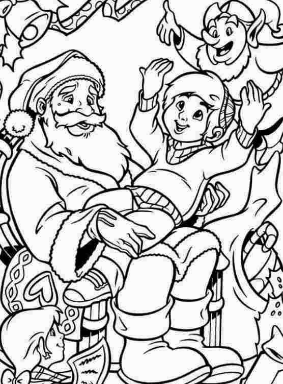Santa Claus christmas coloring.filminspector.com