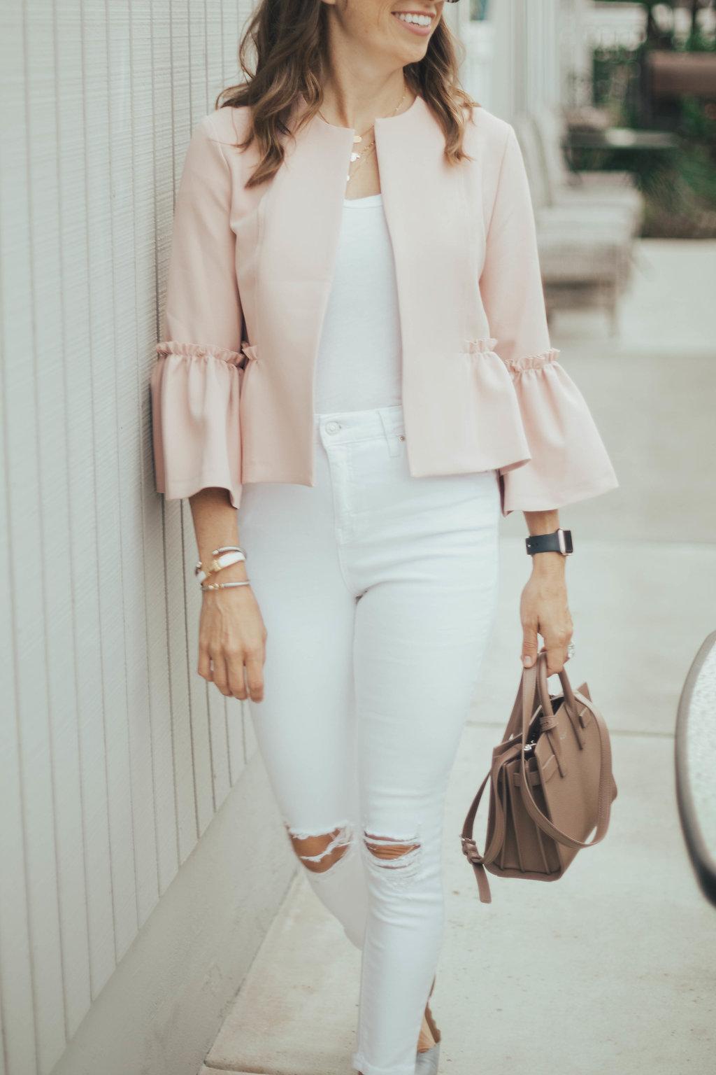 blush bell sleeves