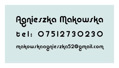 Wizytówki dla Agnieszka Makowska, identyfikacja wizualna, projekt graficzny