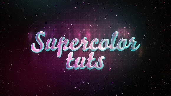 Create a Glossy Neon Text Effect with Stars in Photoshop