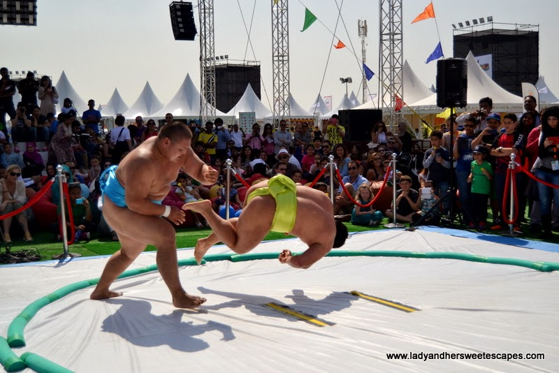 Sumo Wrestling at the Dubai Food Carnival