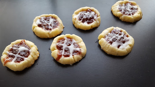 #ChristmasCookies Week ~ Raspberry Almond Shortbread Thumbprint Cookies