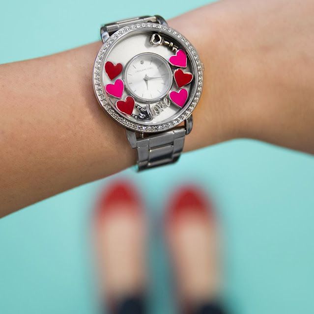 Origami Owl Silver Signature Locket Watch + Hearts available at StoriedCharms.com