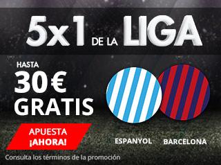 suertia promocion Espanyol vs Barcelona 4 febrero