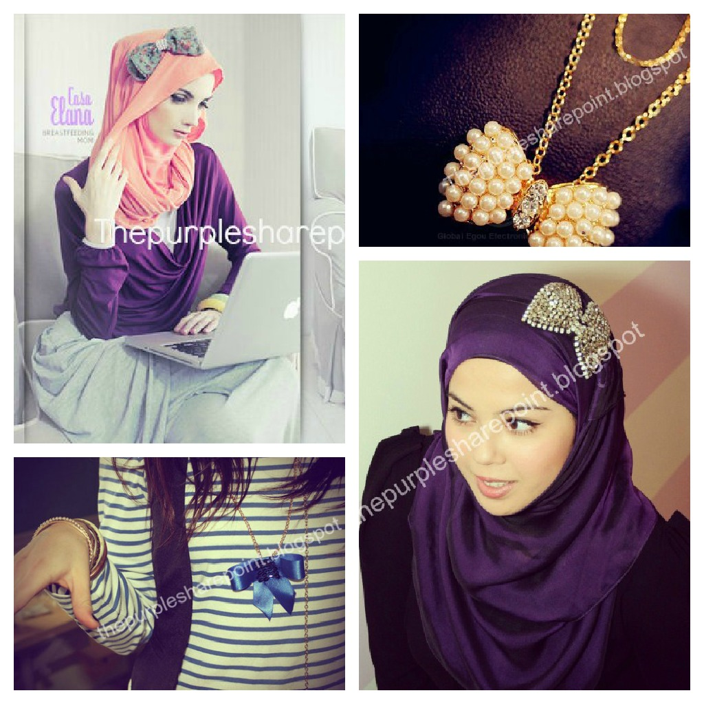 fashion now: Hijab fashion: Bows are officially cool !