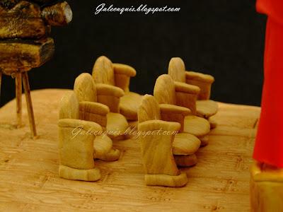 Butacas de madera de fondant