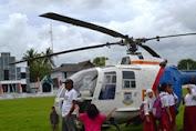 Helikopter Polisi Selamatkan Peserta UAN  Di Kepulauan Selayar