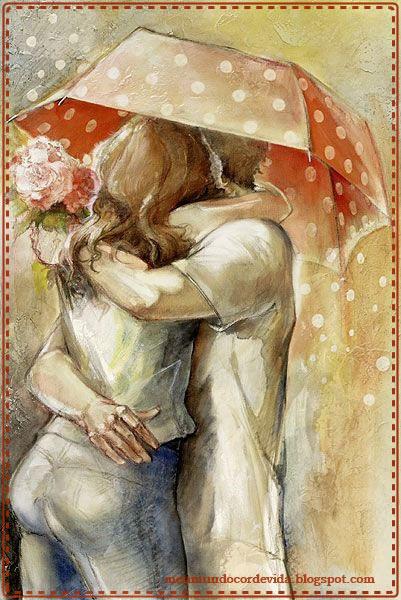 casal abraçado-pintura