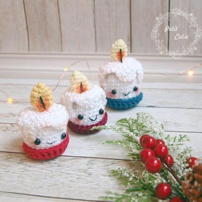Рождественские свечи крючком