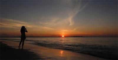sunset nusa dua