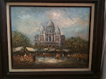 L. A. Burnett, The Basilica of the Sacred Heart of Paris (Montmartre)! 16 x 20 inches