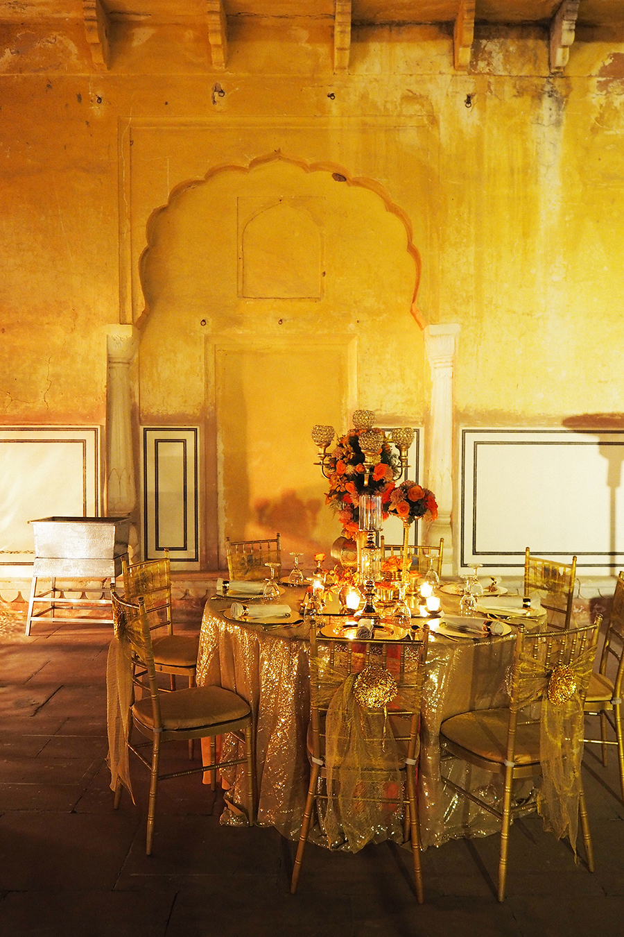 Jaipur, India: A Spectacular Sangeet Party for  an Indian Wedding in Jaigarh Fort