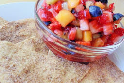 Fruit Salsa with Cinnamon Crisps #desserts #cakerecipe