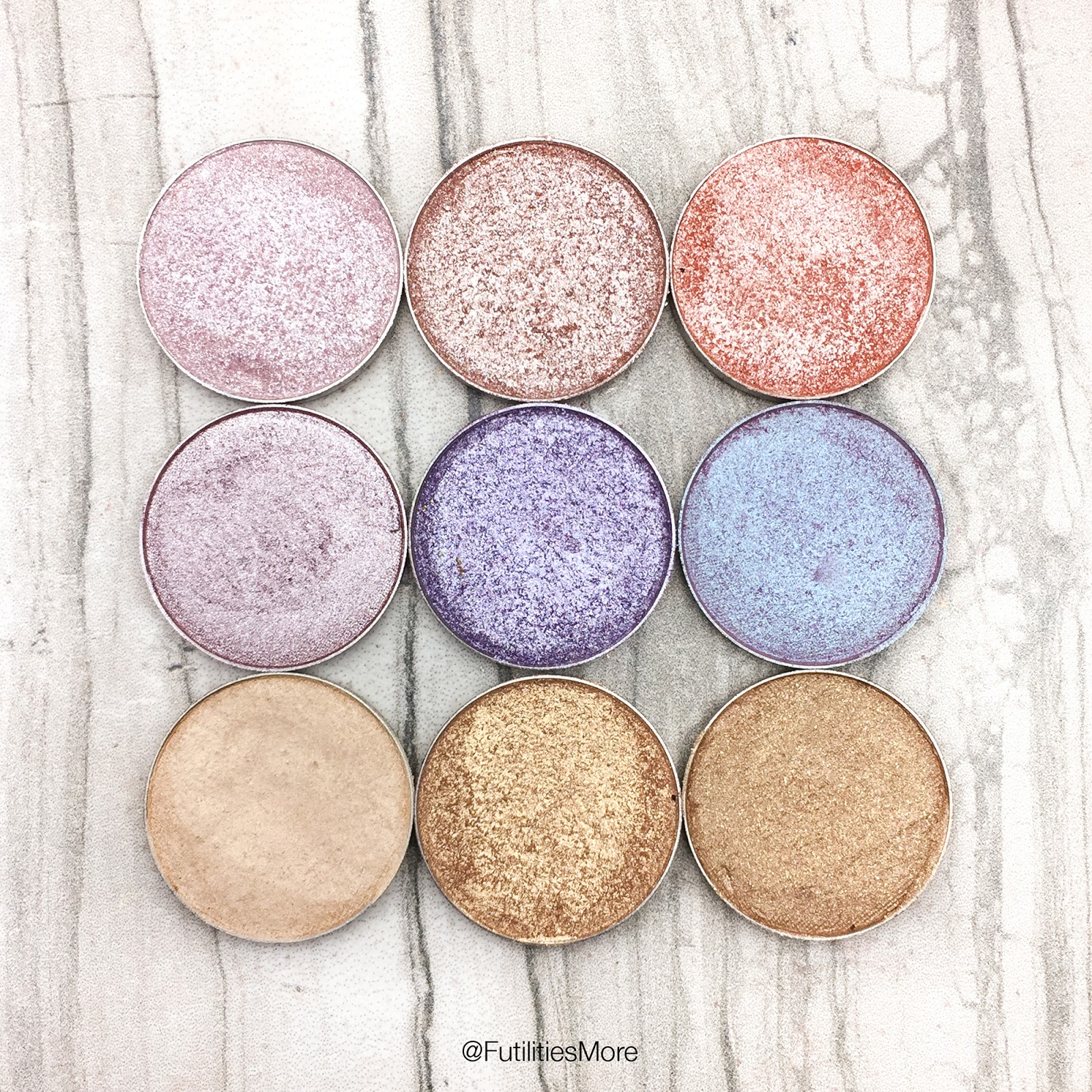 Futilities and More: Makeup Geek pastel shimmery ...