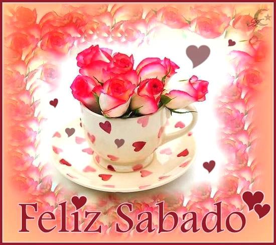 corazones y rosas Feliz Sabado