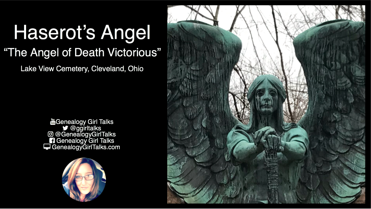 Haserot's Angel - Angel of Death Victorious - Lake View Cemetery, Cleveland, Ohio