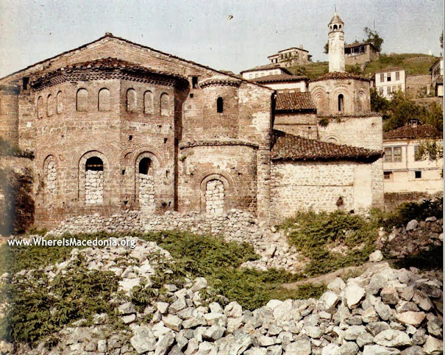 The Church of St. Sophia which in the sixteenth century was transformed into a mosque and later a depot, Ohrid in 1913