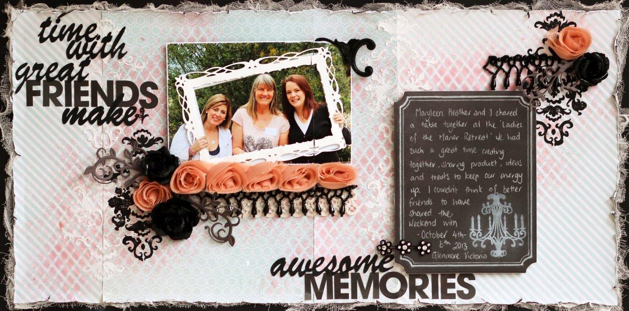 How to scrapbook memories - For Craft Queen Kit For Purchase 2 Layouts