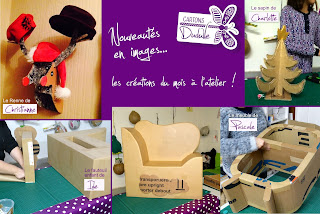 Atelier, cours, stages meubles en carton, objets déco en carton et papier mâché par Cartons Dudulle