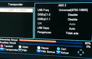 Cara tracking smv freesat mmp raja ampat satelit ABS 2