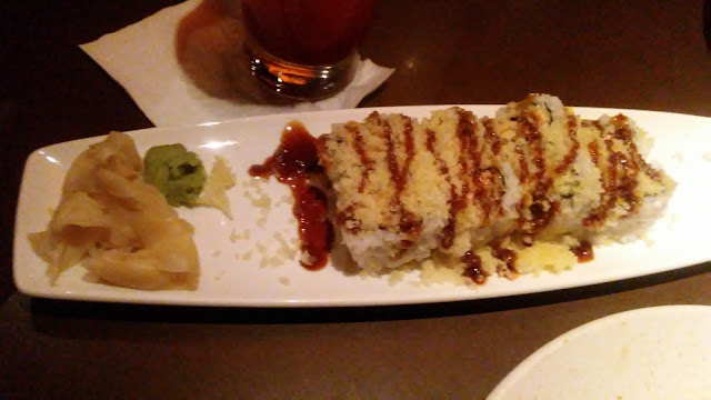 Kona Grill Review Troy MI Atlantic Roll Sushi