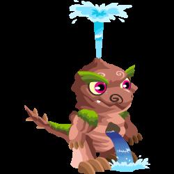 Das Erscheinen des Baby Wasserfall-Drache
