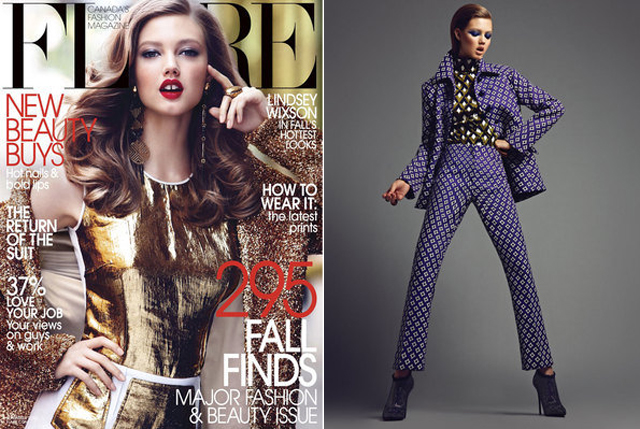Lindsey Wixson Flare September 2012 cover