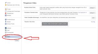 cara agar video facebook tidak memutar otomatis