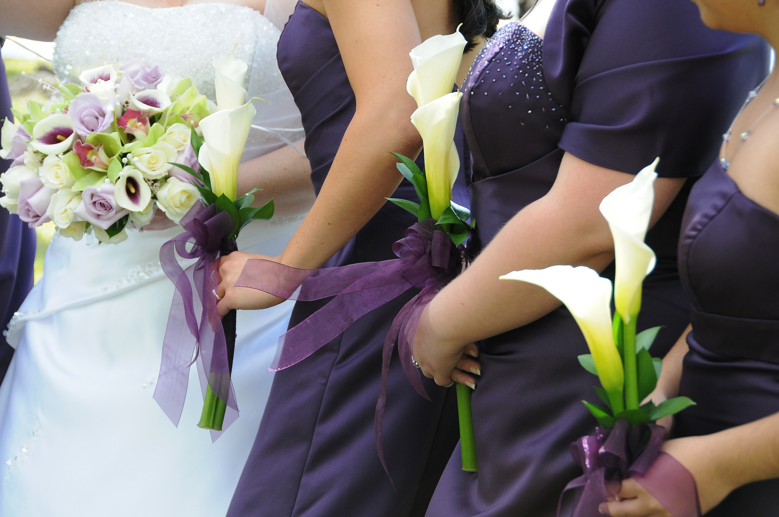 Bridesmaid flower bouquet options go very well with any gown epic white calla lily single flower bridesmaid bouquets izmirmasajfo