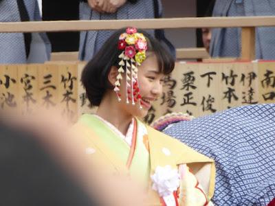 成田山節分祭 林真帆(京阪電鉄CMキャラクター:6代目おけいはん)