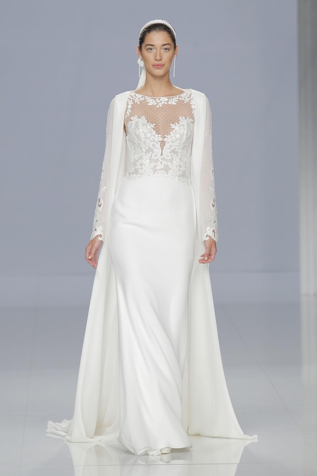 vestido de noiva com capa 2018