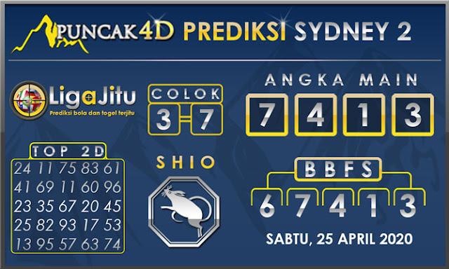 PREDIKSI TOGEL SYDNEY2 PUNCAK4D 25 APRIL 2020