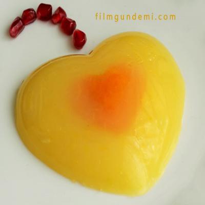 Kalp şeklinde yiyecek