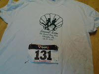 Lance Eaton's shirt and number for a race.