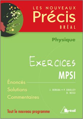 Télécharger Livre Gratuit Exercices - NOUVEAU PRECIS - Physique MPSI pdf