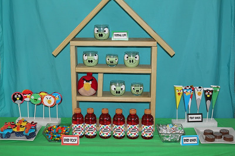 Angry Bird Party Dessert Table Everyday Parties