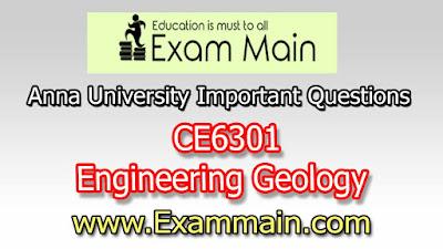 CE6301 Engineering Geology