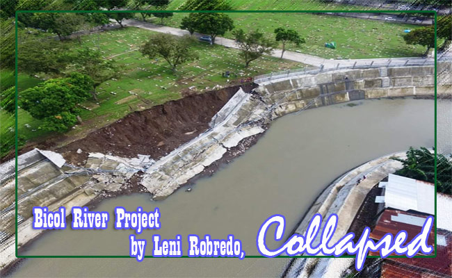 Bicol River Project by Leni Robredo, Collapsed