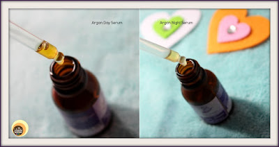 Texture of Aroma Essentials Argan Day Serum & Argan Night Serum