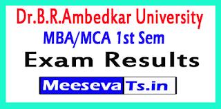 Dr.B.R.Ambedkar University MBA/MCA 1st Sem Exam Results