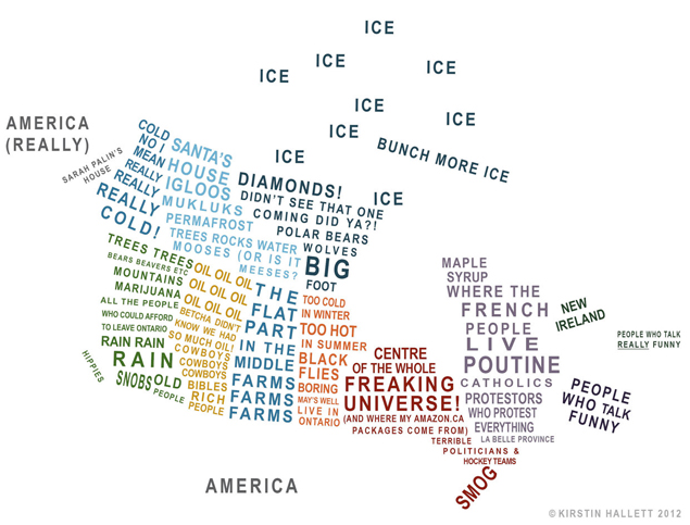 Tastefully Offensive: Map of Canadian Stereotypes