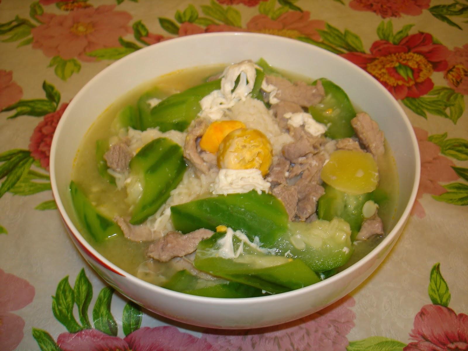 ak blog: 勝瓜肉片泡飯