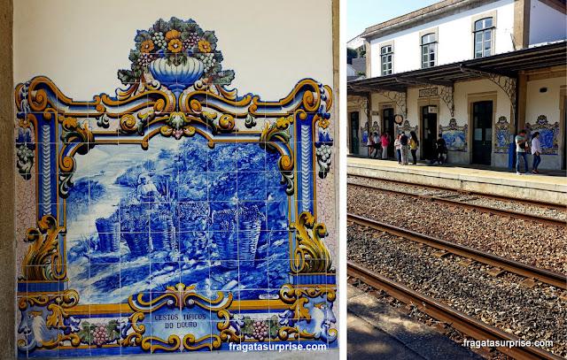 Estação Ferroviária de Pinhão, Vale do rio Douro, Portugal