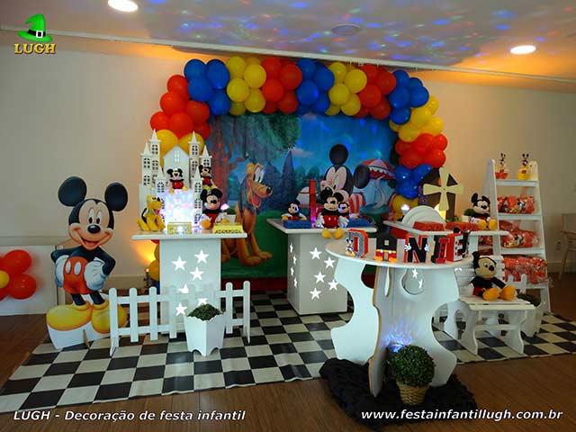 Decoração de festa infantil Mickey provençal para aniversário masculino