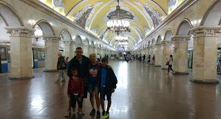 Metro de Moscú.