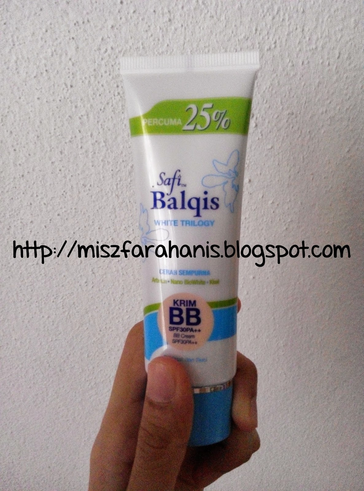 Review: Krim BB/BB Cream Safi Balqis White Trilogy | anis